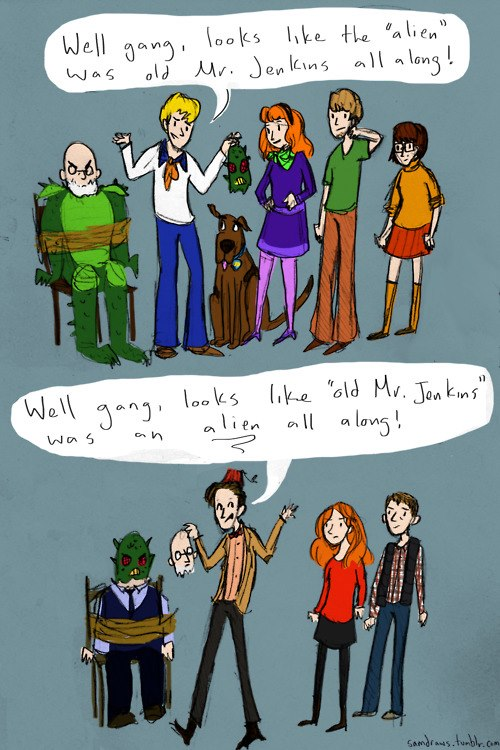 Scooby Doo v Dr Who