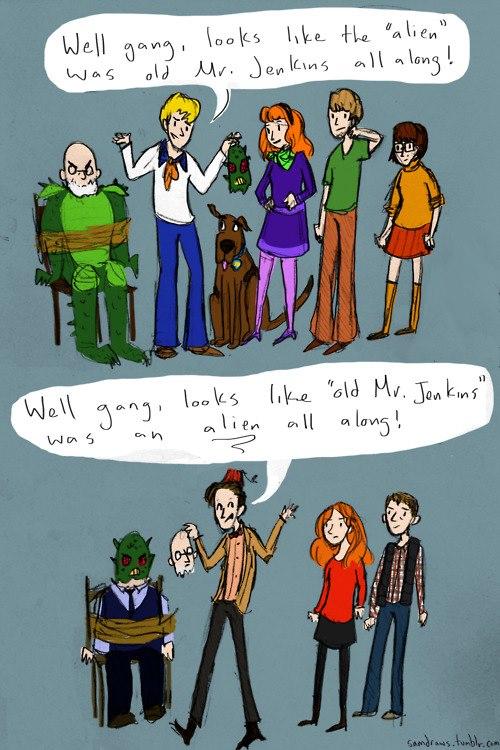 Scooby Doo v Dr Who