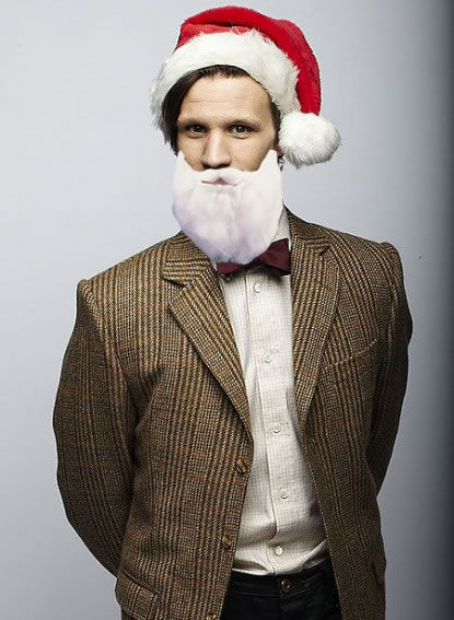Matt in a Santa Hat