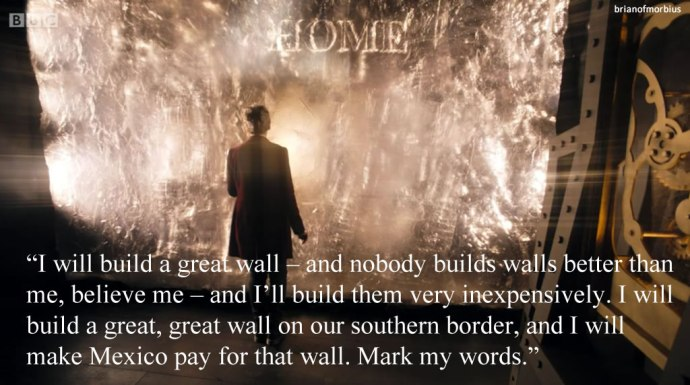 I will build a great wall – and nobody builds walls better than me, believe me – and I'll build them very inexpensively. I will build a great, great wall on our southern border, and I will make Mexico pay for that wall. Mark my words.