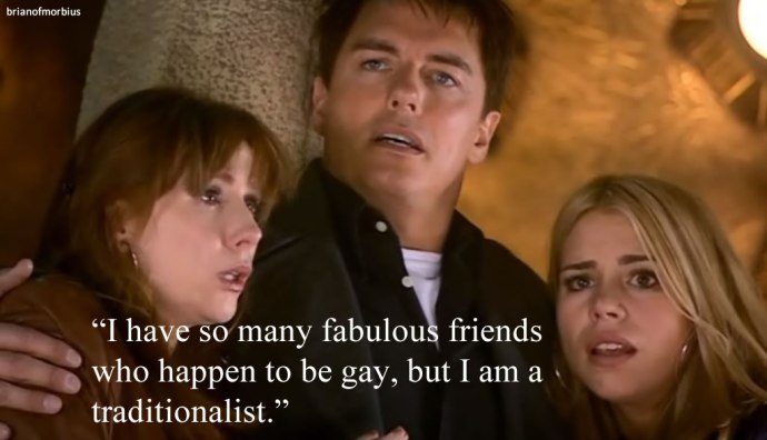 I have so many fabulous friends who happen to be gay, but I am a traditionalist.