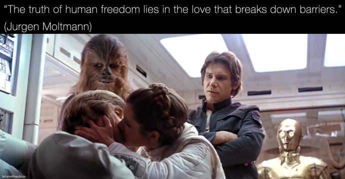 The truth of human freedom lies in the love that breaks down barriers