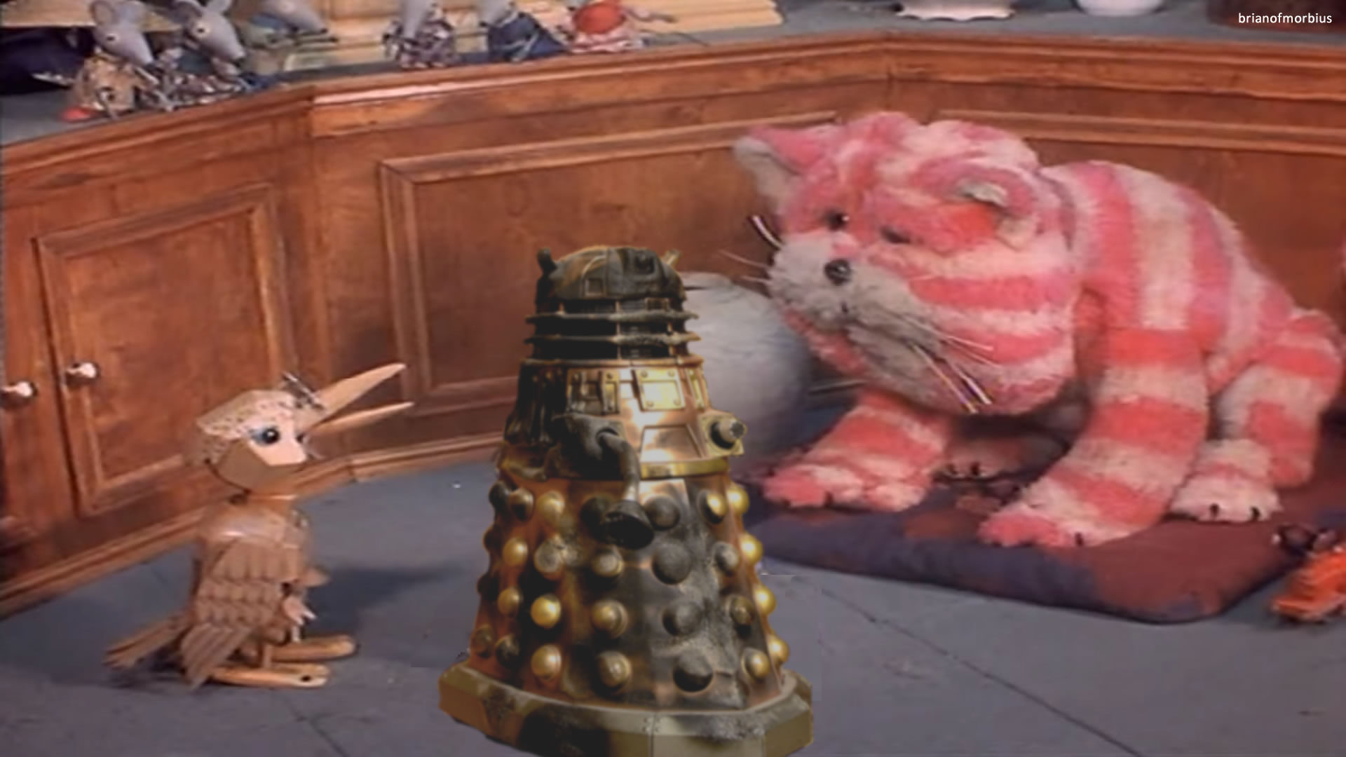 Meanwhile There Is Chaos Over At Bagpuss & Co When Emily Brings In Her  Latest Lost Thing For Repair